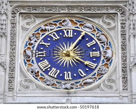 A clock - stock photo