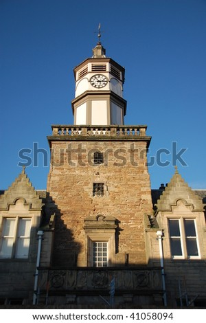 a clock tower in Dingwall