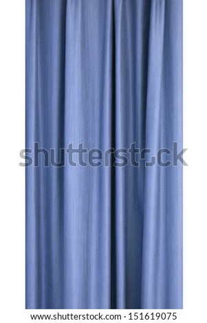 A close up conceptual shot of hanging curtains - stock photo