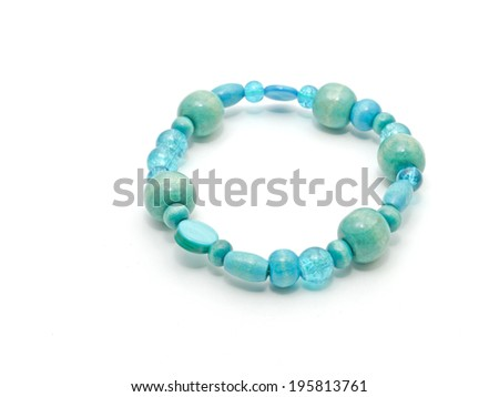 A close-up image of a bracelet.  - stock photo