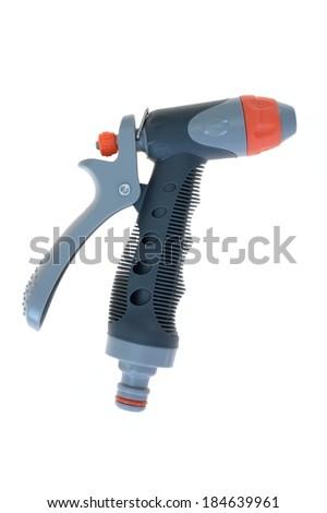 A close up image of a garden hose - stock photo