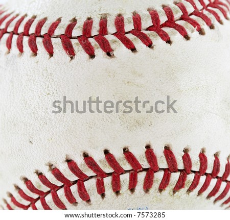 a close up macro of a baseball