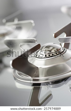 A close up of a hob - stock photo