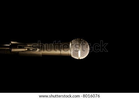 a close up of a microphone - stock photo