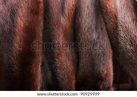 A close up of a natural brown mink coat - stock photo
