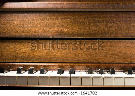 A close up of a piano - stock photo