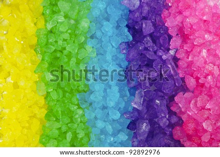 A close up of a rainbow of rocks. - stock photo