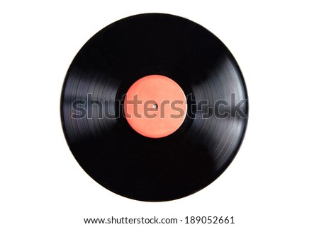 A close up of a record.