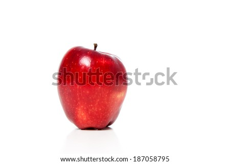 A close up of an apple