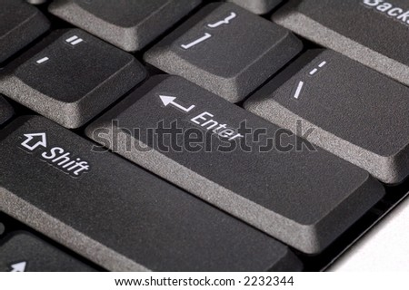 A close up of enter and other keys - stock photo
