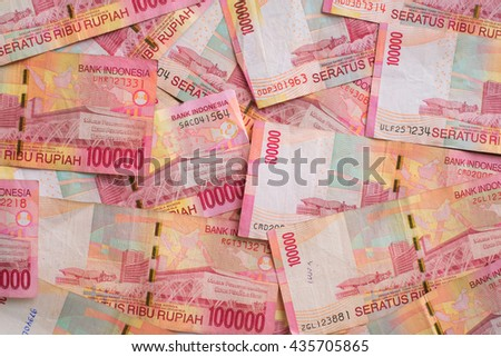 A close up of Indonesia currency - stock photo