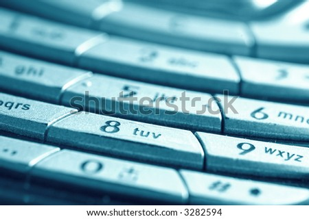 A close-up of mobile keyboard. Conceptual image - stock photo