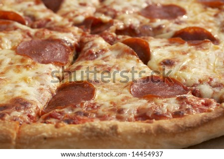 a close up picture of a pizza