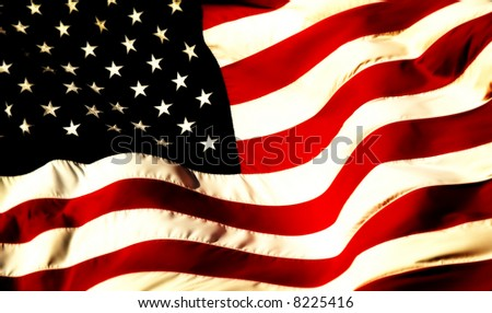 a close up picture of an american flag - stock photo