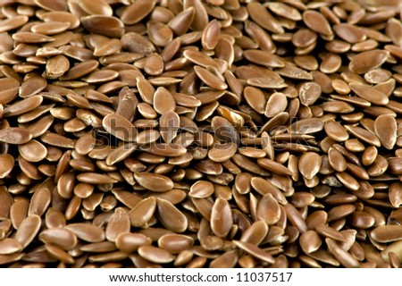 A close-up picture of some flax-seed - stock photo