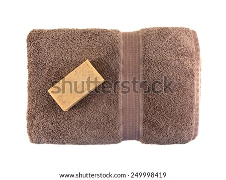 A close up shot of a bar of soap - stock photo