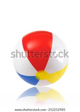 A close up shot of a beach ball - stock photo