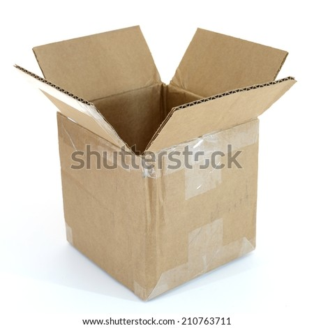 A close up shot of a cardboard box