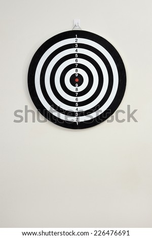 A close up shot of a Dart Board