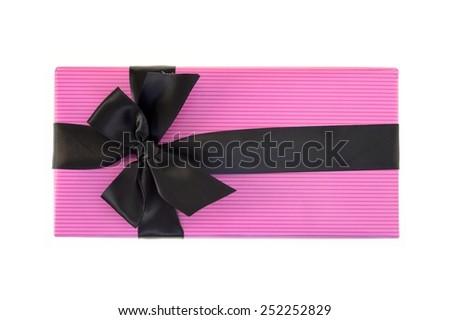 A close up shot of a gift box - stock photo
