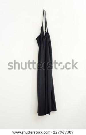 A close up shot of a hanging dress - stock photo