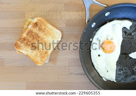 A close up shot of a kitchen frying pan