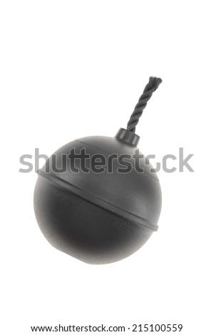 A close up shot of a make believe bomb - stock photo