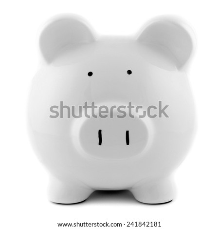 A close up shot of a piggy bank - stock photo