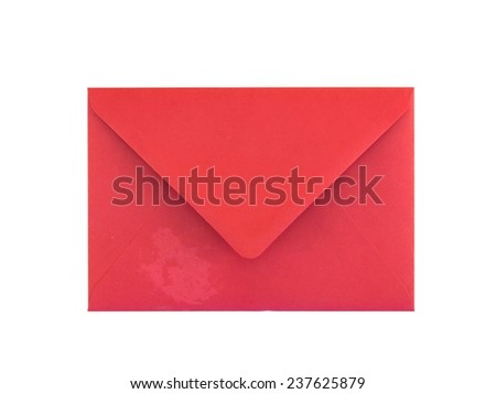A close up shot of a red envelope - stock photo