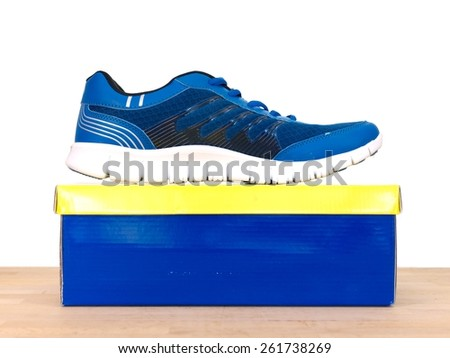 A close up shot of a shoe box - stock photo