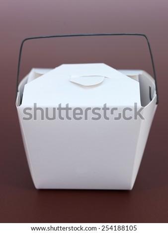 A close up shot of a takeaway box - stock photo