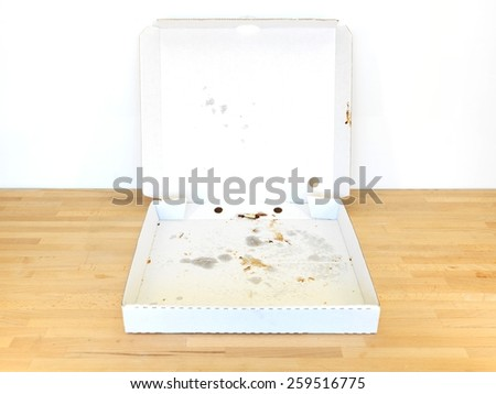 A close up shot of a takeaway pizza - stock photo