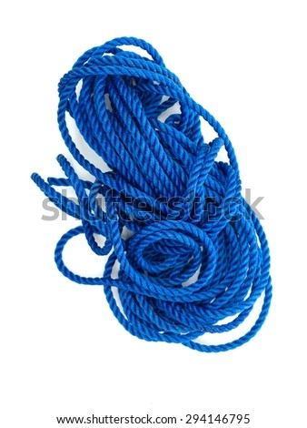 A close up shot of a white rope - stock photo