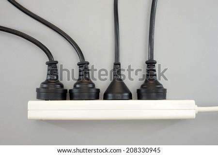 A close up shot of an Australian power cord - stock photo
