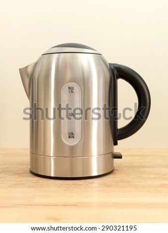 A close up shot of an electric kettle - stock photo