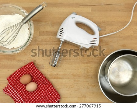 A close up shot of baking equipment - stock photo