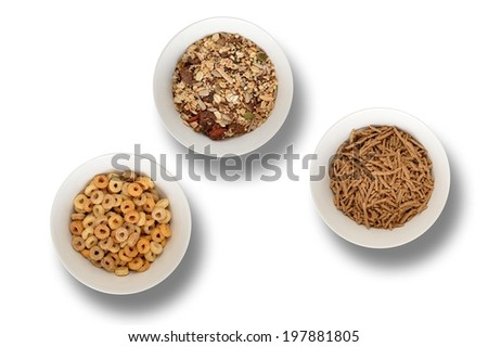 A close up shot of breakfast cereals - stock photo