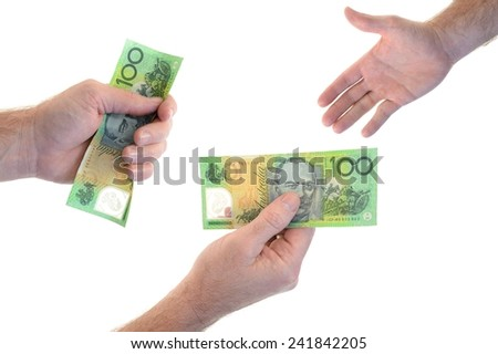 A close up shot of cash in hand