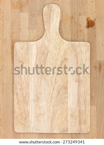 A close up shot of cutting board for food preparation - stock photo