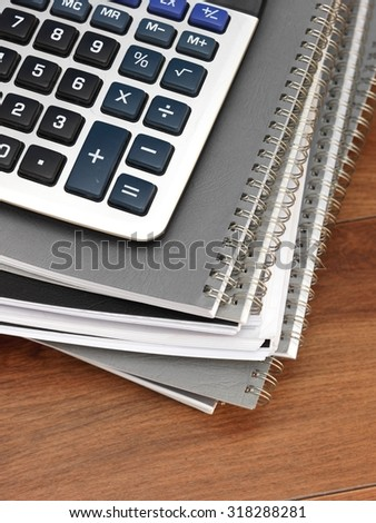 A close up shot of financial documents - stock photo