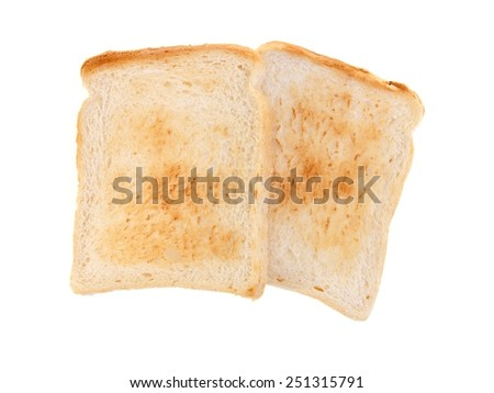 A close up shot of pieces of toast