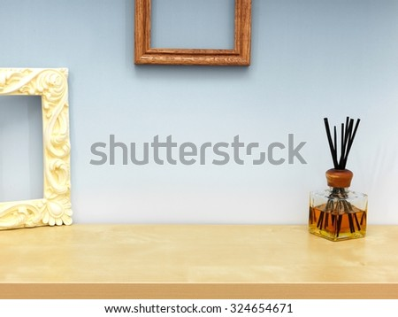 A close up shot of scented sticks - stock photo