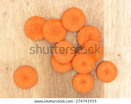 A close up shot of sliced carrots - stock photo