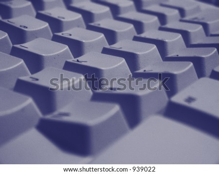 A close up shot of some keys on a desktop keyboard.