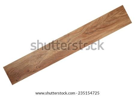 A close up shot of timber flooring - stock photo