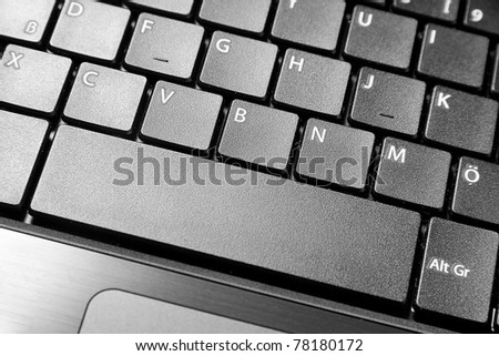 A close up to a laptop keyboard which shows some important keys