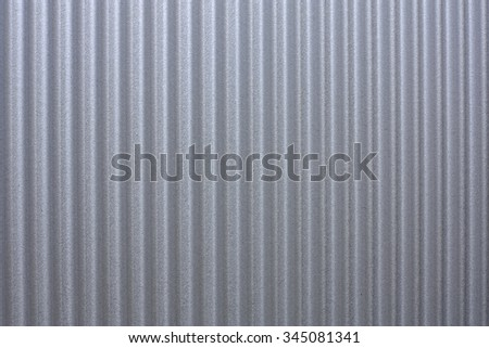 a close up view of a  sheet of new roof iron - stock photo