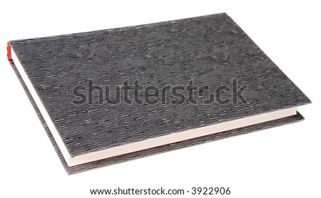 A Closed book a over white background - stock photo