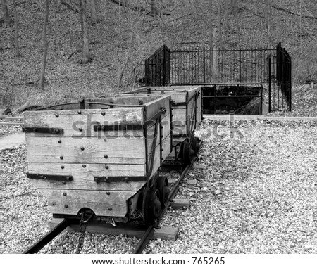 A closed coal mine that is now a historic landmark. - stock photo