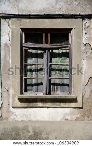 Old Rural Abandoned General Store Front Stock Photo